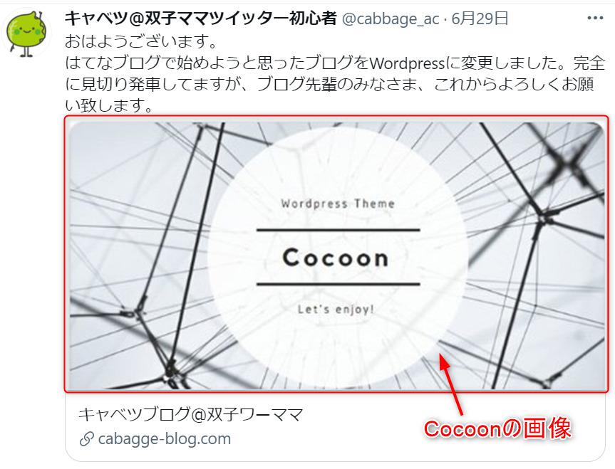twitterカードのCocoon画像