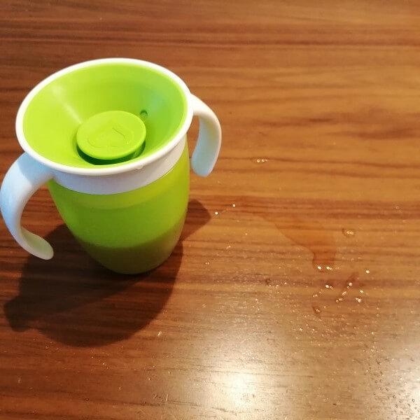 ミラクルカップを10秒倒した時に漏れた液体の量